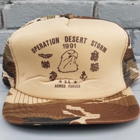 665759171 Vintage 'Operation Desert Storm' Trucker Hat